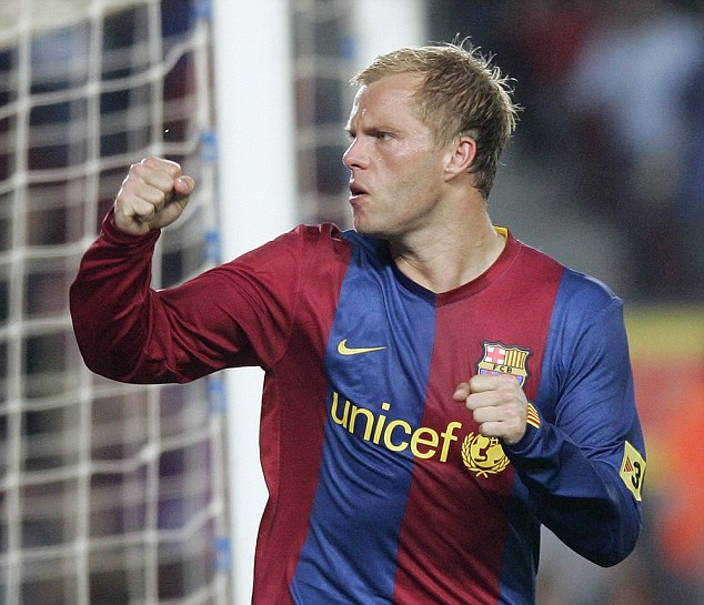 Gudjohnsen enjoyed a trophy-laden three years with Barcelona, winning La Liga and the Champions League