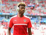 PARIS, FRANCE - JUNE 22:  David Alaba of Austria inspects the pitch prior to the UEFA EURO 2016 Group F match between Iceland and Austria at Stade de France on June 22, 2016 in Paris, France.  (Photo by Alex Grimm - UEFA/UEFA via Getty Images)