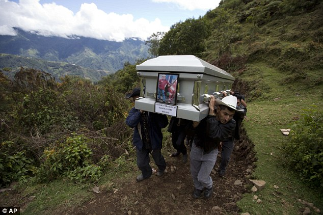 Relatives carry to a local cemetery the coffin containing the remains of Gilberto Francisco Ramos Juarez, a Guatemalan boy whose decomposed body was found in the Rio Grande Valley of South Texas