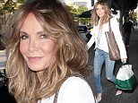 """22 Jun 2016 - Los Angeles - USA\n*** EXCLUSIVE ALL ROUND PICTURES ***\nAmerican actress best known for her roll in the television series """"Charlie's Angels"""", Jaclyn Smith, is radiant in torn skinny jeans, and a white jacket while at Madeo restaurant Hollywood.\nBYLINE MUST READ : XPOSUREPHOTOS.COM\n***UK CLIENTS - PICTURES CONTAINING CHILDREN PLEASE PIXELATE FACE PRIOR TO PUBLICATION ***\n**UK CLIENTS MUST CALL PRIOR TO TV OR ONLINE USAGE PLEASE TELEPHONE  44 208 344 2007**"""