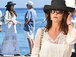 22.June.2016 - Saint Tropez - France\nCatherine Zeta Jones and Michael Douglas leaving the Club 55 in Saint Tropez, France\n*** AVAILABLE FOR UK SALE ONLY ***\nBYLINE MUST READ : E-PRESS / XPOSUREPHOTOS.COM\n***UK CLIENTS - PICTURES CONTAINING CHILDREN PLEASE PIXELATE FACE PRIOR TO PUBLICATION ***\n**UK CLIENTS MUST CALL PRIOR TO TV OR ONLINE USAGE PLEASE TELEPHONE 0208 344 2007**