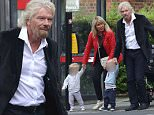 LONDON, ENGLAND - JUNE 20: (EXCLUSIVE COVERAGE)  Richard Branson seen with his wife Joan and their grandchildren in Notting Hill  on June 20, 2016 in London, England.  (Photo by Neil Mockford/Alex Huckle/GC Images)