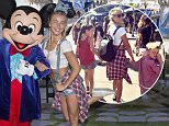 ANAHEIM, CALIFORNIA - JUNE 22: Dancer/Actress Julianne Hough visits Sleeping Beauty Castle with Mickey Mouse at Disneyland park on June 22, 2016 in Anaheim, California. (Photo by Paul Hiffmeyer/Disney Resorts via Getty Images)