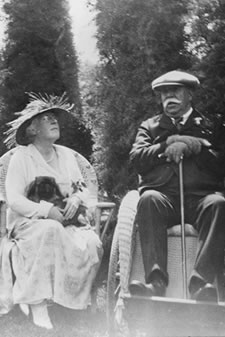 Mr. and Mrs. William Bowers Bourn II at Filoli (last known photo).