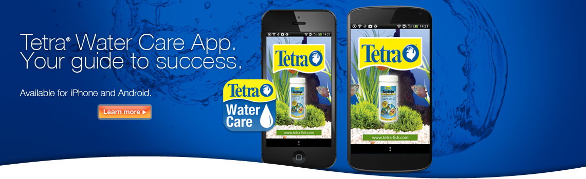 Tetra Water Care App.  Your guide to success.