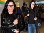 EXCLUSIVE: Courteney Cox is seen arriving at Heathrow airport london, The Friends star was seen walking with a mystery man as she made her way through the terminal, Courteney divide to catch the train into london instead of getting a chaffeur driven car.\n\nPictured: Courteney Cox\nRef: SPL1307777  240616   EXCLUSIVE\nPicture by: Neil Warner / Splash News\n\nSplash News and Pictures\nLos Angeles: 310-821-2666\nNew York: 212-619-2666\nLondon: 870-934-2666\nphotodesk@splashnews.com\n