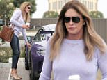 EXCLUSIVE TO INF.\nJune 23, 2016: Caitlyn Jenner pairs a pretty purple sweater with cropped skinny jeans and some nude heels as she grabs her morning cup of coffee in Malibu, California.\nMandatory Credit: Borisio/INFphoto.com  Ref: infusla-277