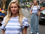 """Model Jessica Hart pictured hailing for a cab after having lunch with a friend at the """"Gemma"""" Restaurant in Downtown, Manhattan.\n\nPictured: Jessica Hart\nRef: SPL1306994  230616  \nPicture by: Jose Perez / Splash News\n\nSplash News and Pictures\nLos Angeles: 310-821-2666\nNew York: 212-619-2666\nLondon: 870-934-2666\nphotodesk@splashnews.com\n"""