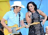 New York, NY - 6/24/2016  - Brad Paisley and Demi Lovato Perform at GMA 2016 Summer Concert Series -PICTURED: Brad Paisley and Demi Lovato -PHOTO by: Bill Davila/startraksphoto.com  -BDP_0519.JPG Editorial - Rights Managed Image - Please contact www.startraksphoto.com for licensing fee Startraks Photo New York, NY Startraks Photo reserves the right to pursue unauthorized users of this image. If you violate our intellectual property you may be liable for actual damages, loss of income, and profits you derive from the use of this image, and where appropriate, the cost of collection and/or statutory damages. Image may not be published in any way that is or might be deemed defamatory, libelous, pornographic, or obscene. Please consult our sales department for any clarification or question you may have.
