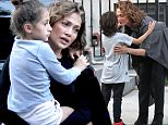 154168, Jennifer Lopez films the second season of her hit TV show 'Shades Of Blue' in Brooklyn.  At the end of the day Jennifer was visited by her boyfriend Casper and her two kids, Emme and Max.  Photograph: ¨© LGjr-RG, PacificCoastNews. Los Angeles Office (PCN): +1 310.822.0419 UK Office (Photoshot): +44 (0) 20 7421 6000 sales@pacificcoastnews.com FEE MUST BE AGREED PRIOR TO USAGE  ***Disclaimer: Please be aware that publication of certain images of celebrities and public figures with their children without their consent is subject to existing laws in the territories in which the images are being used. Please be aware of any such laws before use or publication. Pacific Coast News, as a content provider, shall not be held responsible for any legal ramifications resulting in the agency or client distribution and use of the content provided to them by Pacific Coast News.***