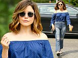 New York, NY - Sophia Bush goes on a iced coffee run in New York City. AKM-GSI   June  23, 2016 To License These Photos, Please Contact : Maria Buda (917) 242-1505 mbuda@akmgsi.com sales@akmgsi.com or  Mark Satter  (317) 691-9592  msatter@akmgsi.com  sales@akmgsi.com  www.akmgsi.com