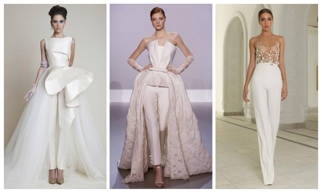spodnie mogą zastąpić suknię ślubną