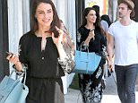 Exclusive... 52103630 Actress Jessica Lowndes and a male friend spotted out shopping in West Hollywood, California on June 24, 2016. Jessica is still enjoying all the attention her song 'Deja Vu' gets from her fake relationship with Jon Lovitz. FameFlynet, Inc - Beverly Hills, CA, USA - +1 (310) 505-9876