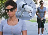 *EXCLUSIVE* West Hollywood, CA - Nicole Murphy is spotted with her dog taking a stroll during a warm Summer day with a friend. The model shows off her body in a simple but cool outfit of a pair of capri leggings and a gray shirt.\nAKM-GSI       June 24, 2016\nTo License These Photos, Please Contact :\nMaria Buda\n(917) 242-1505\nmbuda@akmgsi.com\nsales@akmgsi.com\nor \nMark Satter\n(317) 691-9592\nmsatter@akmgsi.com\nsales@akmgsi.com\nwww.akmgsi.com