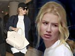 ****PREMIUM EXCLUSIVE RATES APPLY**** Iggy Azalea looks downcast as she catches a flight out of Los Angeles after her breakup with ex-boyfriend, Nick Young. \n\nSharky/Splashnews