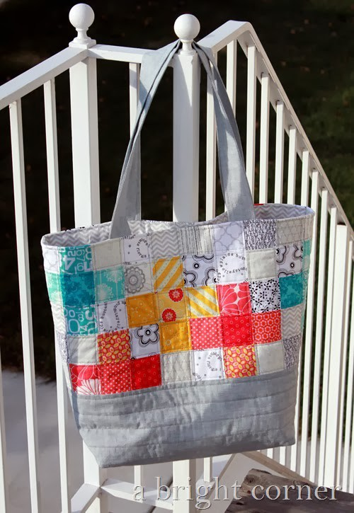 Sew a Scrappy Quilted Patchwork Tote Bag