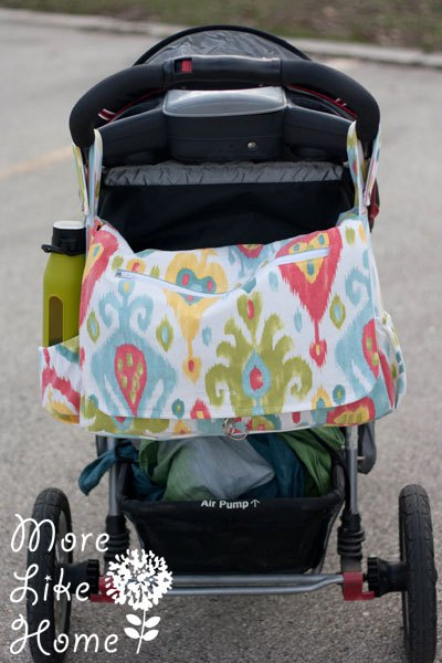 hands free stroller bag sewing pattern and tutorial