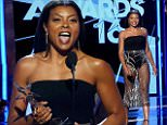 """eURN: AD*211103452  Headline: Taraji P. Henson accepts the award for Best Actress for her role on """"Empire"""" at the 2016 BET Awards in Los Angeles Caption: Taraji P. Henson accepts the award for Best Actress for her role on """"Empire"""" at the 2016 BET Awards in Los Angeles, California, U.S., June 26, 2016.  REUTERS/Danny Moloshok Photographer: DANNY MOLOSHOK Loaded on 27/06/2016 at 02:24 Copyright: Reuters Provider: REUTERS  Properties: RGB JPEG Image (24979K 760K 32.9:1) 2436w x 3500h at 300 x 300 dpi  Routing: DM News : Wires (Reuters), GeneralFeed (Miscellaneous) DM Showbiz : SHOWBIZ (Miscellaneous) DM Online : Online Previews (Miscellaneous), CMS Out (Miscellaneous)  Parking:"""