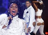 Janelle Monae performs a medley of songs in tribute to the late singer Prince at the 2016 BET Awards in Los Angeles, California, U.S., June 26, 2016.  REUTERS/Danny Moloshok