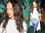 """27 Jun 2016 - London - UK  Rihanna seen here leaving Drama nightclub in London at 3am with her friends. Rihanna is in London for her UK leg of her """"Anti world tour"""".   BYLINE MUST READ : XPOSUREPHOTOS.COM  ***UK CLIENTS - PICTURES CONTAINING CHILDREN PLEASE PIXELATE FACE PRIOR TO PUBLICATION ***  **UK CLIENTS MUST CALL PRIOR TO TV OR ONLINE USAGE PLEASE TELEPHONE   44 208 344 2007 **"""