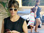 26 June 2016 - Hollywood, CA - USA **STRICTLY AVAILABLE FOR UK AND GERMANY USE ONLY** *EXCLUSIVE ALL ROUND PICTURES*  Halle Berry is spotted with daughter Nahla Ariela Aubry while visiting a friend and running a few errands. The actress sports a pair of short shorts and a muscle tank top on a warm Summer day. The pair looks like they are having a fun Sunday as they go about their day. BYLINE MUST READ : AKM-GSI-XPOSURE ***UK CLIENTS - PICTURES CONTAINING CHILDREN PLEASE PIXELATE FACE PRIOR TO PUBLICATION *** *UK CLIENTS MUST CALL PRIOR TO TV OR ONLINE USAGE PLEASE TELEPHONE 0208 344 2007*