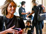 24.JUNE.2016 - Los Angeles - USA\n*** STRICTLY AVAILABLE FOR UK AND GERMANY USE ONLY ***\n** EXCLUSIVE ALL ROUND PICTURES **\nCiara goes make-up free as she is seen with son, Future, at the movies. The cute pair are spotted going to see popular Disney film, 'Finding Dory.' Little Future looks thrilled to get into the theater while Ciara looks excited to be with her son and spending some quality time, one on one.\nBYLINE MUST READ : AKM-GSI-XPOSURE\n***UK CLIENTS - PICTURES CONTAINING CHILDREN PLEASE PIXELATE FACE PRIOR TO PUBLICATION ***\n*UK CLIENTS MUST CALL PRIOR TO TV OR ONLINE USAGE PLEASE TELEPHONE 0208 344 2007*\n