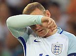 Wayne Rooney of England looks dejected during the UEFA Euro 2016 Round of 16 match between  England and Iceland played at Stadium Nice, Nice, France on June 27th 2016