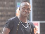 PICTURE BY CHRIS NEILL - 07930-353682 - WLCOME TO LIVERPOOL.....!!!!!.....SADIO MANE IS PICTURED OUTSIDE A LIVERPOOL HOSPITAL SFTER UNDER GOING HIS MEDICAL AHEAD OF HIS £34 MILLION DEAL.....