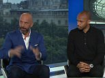 BBC pundits GAry Lineker, Gianluca Vialli, Thierry Henry and Vincent Kompany speaking ahead of the Italy v Spain match