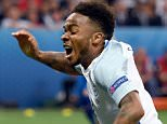 NICE, FRANCE - JUNE 27:  Raheem Sterling of England is fouled in the penalty aera by Hannes Halldorsson of Iceland to win a penalty during the UEFA EURO 2016 round of 16 match between England and Iceland at Allianz Riviera Stadium on June 27, 2016 in Nice, France.  (Photo by Michael Regan - The FA/The FA via Getty Images)
