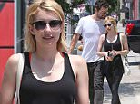 Exclusive... 52105656 'Scream Queens' star Emma Roberts spotted out and about in West Hollywood with a  mystery male companion on June 27, 2016. Roberts recently split from on and off boyfriend of four years Evan Peters. FameFlynet, Inc - Beverly Hills, CA, USA - +1 (310) 505-9876