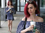*EXCLUSIVE* West Hollywood, CA - Lily Collins shows off her shoulders in a cute off-the-shoulder romper while getting coffee from Starbucks.\n  \nAKM-GSI       June 28, 2016\nTo License These Photos, Please Contact :\nSteve Ginsburg\n(310) 505-8447\n(323) 423-9397\nsteve@akmgsi.com\nsales@akmgsi.com\nor\nMaria Buda\n(917) 242-1505\nmbuda@akmgsi.com\nginsburgspalyinc@gmail.com