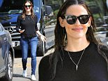 Brentwood, CA - Jennifer Garner drops Violet Affleck off at Summer Camp. Jennifer Garner sweetly smiles as she looks casual in her black sweater, blue jeans, and white shoes.\n  \nAKM-GSI       June 28, 2016\nTo License These Photos, Please Contact :\nMaria Buda\n(917) 242-1505\nmbuda@akmgsi.com\nsales@akmgsi.com\nMark Satter\n(317) 691-9592\nmsatter@akmgsi.com\nsales@akmgsi.com\nwww.akmgsi.com