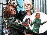 Television Programme: Absolutely Fabulous with  Jennifer Saunders as Edina and  Joanna Lumley as Patsy. JENNIFER SAUNDERS & JOANNA LUMLEY Character(s): Edina, Patsy Television 'ABSOLUTELY FABULOUS : SEASON 4' (2001) Directed By TRISTAM SHAPEERO, BOB SPIERS 20 April 2001 AFD15034 Allstar Collection/BBC **WARNING** This Photograph is for editorial use only and is the copyright of BBC  and/or the Photographer assigned by the TV or Production Company & can only be reproduced by publications in conjunction with the promotion of the above TV Programme. A Mandatory Credit To BBC is required. The Photographer should also be credited when known. No commercial use can be granted without written authority from the TV Company. 1111z@yx