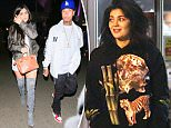 Exclusive... 52105455 Make up free Kylie Jenner shops for groceries accompanied by her personal assistant at a local Whole Food in Hollywood, CA on June 26th 2016. Kylie is sporting a HUGE Tiger on her sweater - The Reality Tv star was recently spotted going out with Rapper Tyga and is obviously making a statement the two are back together... FameFlynet, Inc - Beverly Hills, CA, USA - +1 (310) 505-9876