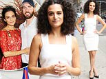 NEW YORK, NY - Jenny Slate arrives at 'The Late Show with Stephen Colbert' to talk about her new movie 'The Secret Life of Pets' in New York. NY. Jenny, who voices Gidget the Pomeranian, just confirmed that she is dating actor Chris Evans.\nAKM-GSI      June 27, 2016\nTo License These Photos, Please Contact :\nMaria Buda\n(917) 242-1505\nmbuda@akmgsi.com\nsales@akmgsi.com\nor\nMark Satter\n(317) 691-9592\nmsatter@akmgsi.com\nsales@akmgsi.com\nwww.akmgsi.com