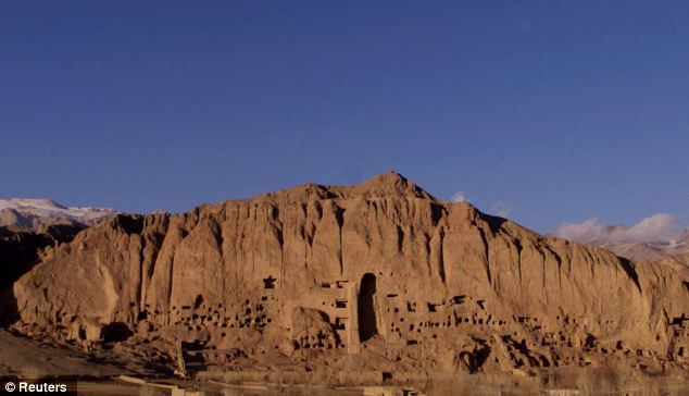 Missing: A general view of the alcoves where giant Buddha statues once stood in Bamiyan in 2001