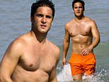 Picture Shows: Diego Boneta  June 25, 2016\n \n Actor Diego Boneta is seen at the beach in Miami, Florida. He was relaxing with friends and cooled off in the water.\n \n Non Exclusive\n UK RIGHTS ONLY\n \n Pictures by : FameFlynet UK © 2016\n Tel : +44 (0)20 3551 5049\n Email : info@fameflynet.uk.com