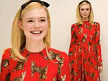 """BEVERLY HILLS, CA - JUNE 27:  Elle Fanning at """"The Neon Demon"""" Press Conference at the Four Seasons Hotel on June 27, 2016 in Beverly Hills, California.  (Photo by Vera Anderson/WireImage)"""
