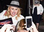 Picture Shows: Rebel Wilson  June 28, 2016\n \n Rebal Wilson takes photos and autographs for her fans while leaving 'Guys And Dolls' in London, England. This was Rebels first night of the Broadway play.\n \n Non-Exclusive\n WORLDWIDE RIGHTS\n \n Pictures by : FameFlynet UK © 2016\n Tel : +44 (0)20 3551 5049\n Email : info@fameflynet.uk.com