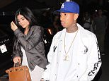 Inglewood, CA - Kylie Jenner and rapper, Tyga, reunite after speculation the two have gotten back together after their recent breakup. The duo are spotted leaving The Forum after Kanye West's Visual Premiere Event for his song 'Famous'.  AKM-GSI       June 24, 2016 To License These Photos, Please Contact : Maria Buda (917) 242-1505 mbuda@akmgsi.com sales@akmgsi.com or  Mark Satter (317) 691-9592 msatter@akmgsi.com sales@akmgsi.com www.akmgsi.com