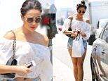 26.June.2016 - Los Angeles ñ USA\n*** STRICTLY AVAILABLE FOR UK AND GERMANY USE ONLY ***\nLos Angeles, CA - Pretty Little Liars star Shay Mitchell looks cute wearing a strapless blouse with daisy dukes and carries a black leather Chanel tote. The 29-year-old actress gets some retail therapy in at Revolve. \nBYLINE MUST READ : AKM-GSI-XPOSURE\n***UK CLIENTS - PICTURES CONTAINING CHILDREN PLEASE PIXELATE FACE PRIOR TO PUBLICATION ***\n*UK CLIENTS MUST CALL PRIOR TO TV OR ONLINE USAGE PLEASE TELEPHONE 0208 344 2007*\n