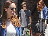 06/26/2016\nEXCLUSIVE: Brie Larson and fiance Alex Greenwald Spotted in Montreal Canada. The Academy award winning actress and musician husband to be left an apartment together before hopping into a waiting vehicle. The 'Short Term 12' star flashed her engagement ring as she stepped out  dressed in a smart yet low key denim style jacket, white top and black jeans ensemble.\nPlease byline:TheImageDirect.com
