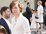 Milla Jovovich and daughter Ever sighted in Berlin. \n\nPictured: Milla Jovovich, Ever Jovovich\nRef: SPL1310321  280616  \nPicture by: GoldStar Media / Splash News\n\nSplash News and Pictures\nLos Angeles: 310-821-2666\nNew York: 212-619-2666\nLondon: 870-934-2666\nphotodesk@splashnews.com\n