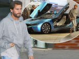 Beverly Hills, CA - Scott Disick is spotted with a buddy of his after dinner. The pair is spotted browsing at cars earlier in the evening. Scott is driving a blue BMW i8 with suicide doors. He is wearing a simple outfit of a pair of ripped and distressed jeans, grey hoodie and suede ankle boots.\nAKM-GSI       June 23, 2016\nTo License These Photos, Please Contact :\nMaria Buda\n(917) 242-1505\nmbuda@akmgsi.com\nsales@akmgsi.com\nor \nMark Satter\n(317) 691-9592\nmsatter@akmgsi.com\nsales@akmgsi.com\nwww.akmgsi.com