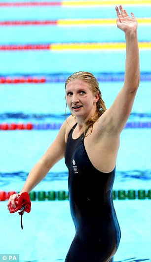 Adlington thanks the home crowd that roared her to the bronze medal position