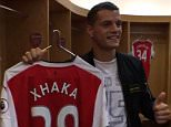 Granit Xhaka takes a tour around his new home, Emirates Stadium!