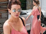 28 June 2016 - EXCLUSIVE.\nKate Beckinsale is spotted today in Los Angeles wearing a lovely pink dress while out and about. While exiting a business meeting, the 42-year-old beauty oozed LA glamour as she strolled to an awaiting car with a friend. \nCredit: GoffPhotos/TheImageDirect.com   Ref: KGC-339/TIDLA-15\n**UK Sales Only - No Daily Mail Online, No Sun Online - Papers Allrounder - Mags Double Space Rates - Web/Online Must Call Before Use**