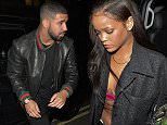 LONDON, UNITED KINGDOM - JULY 01: Rihanna arrives back at her hotel shortly followed by Drake on July 01, 2016 in London, England. PHOTOGRAPH BY Eagle Lee / Barcroft Images London-T:+44 207 033 1031 E:hello@barcroftmedia.com - New York-T:+1 212 796 2458 E:hello@barcroftusa.com - New Delhi-T:+91 11 4053 2429 E:hello@barcroftindia.com www.barcroftimages.com
