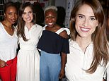 """NEW YORK, NY - JUNE 29:  (L-R) Tony Winner Heather Headley, Tony Winner Cynthia Erivo and Allison Williams pose backstage at the hit musical """"The Color Purple"""" on Broadway at The Jacobs Theatre on June 29, 2016 in New York City.  (Photo by Bruce Glikas/Bruce Glikas/FilmMagic)"""